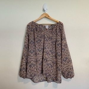 Cabi Pattern Long Sleeve Size Small